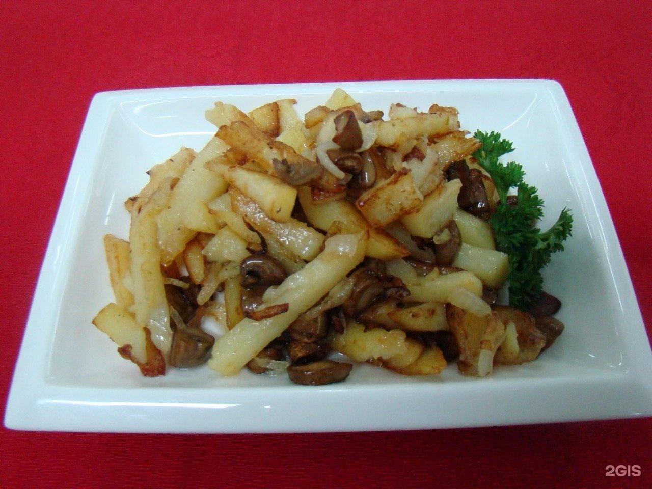 Белые грибы с картошкой жареные рецепт пошагово