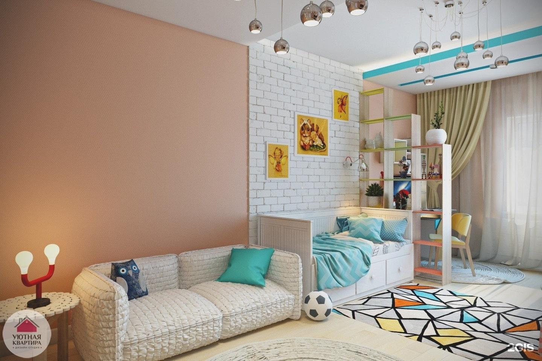 как обустроить комнату 12 кв.м для ребенка фото