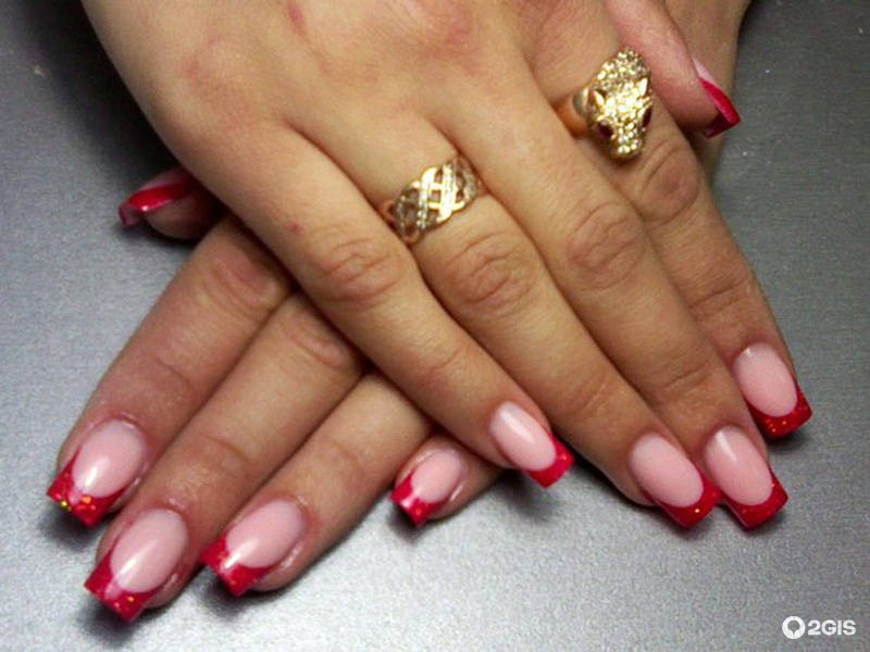 Ногти модный дизайн френч фото