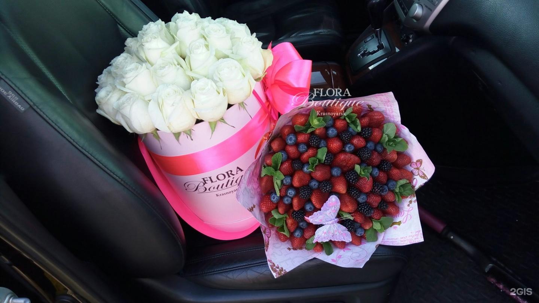 Цветы в коробке фото в машине
