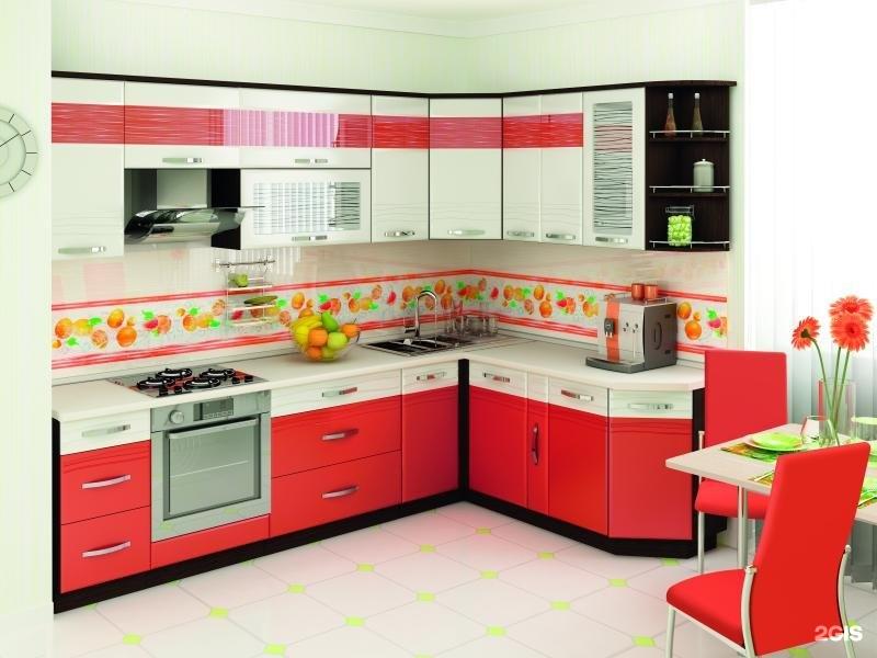 Оранжевые кухни фото угловые