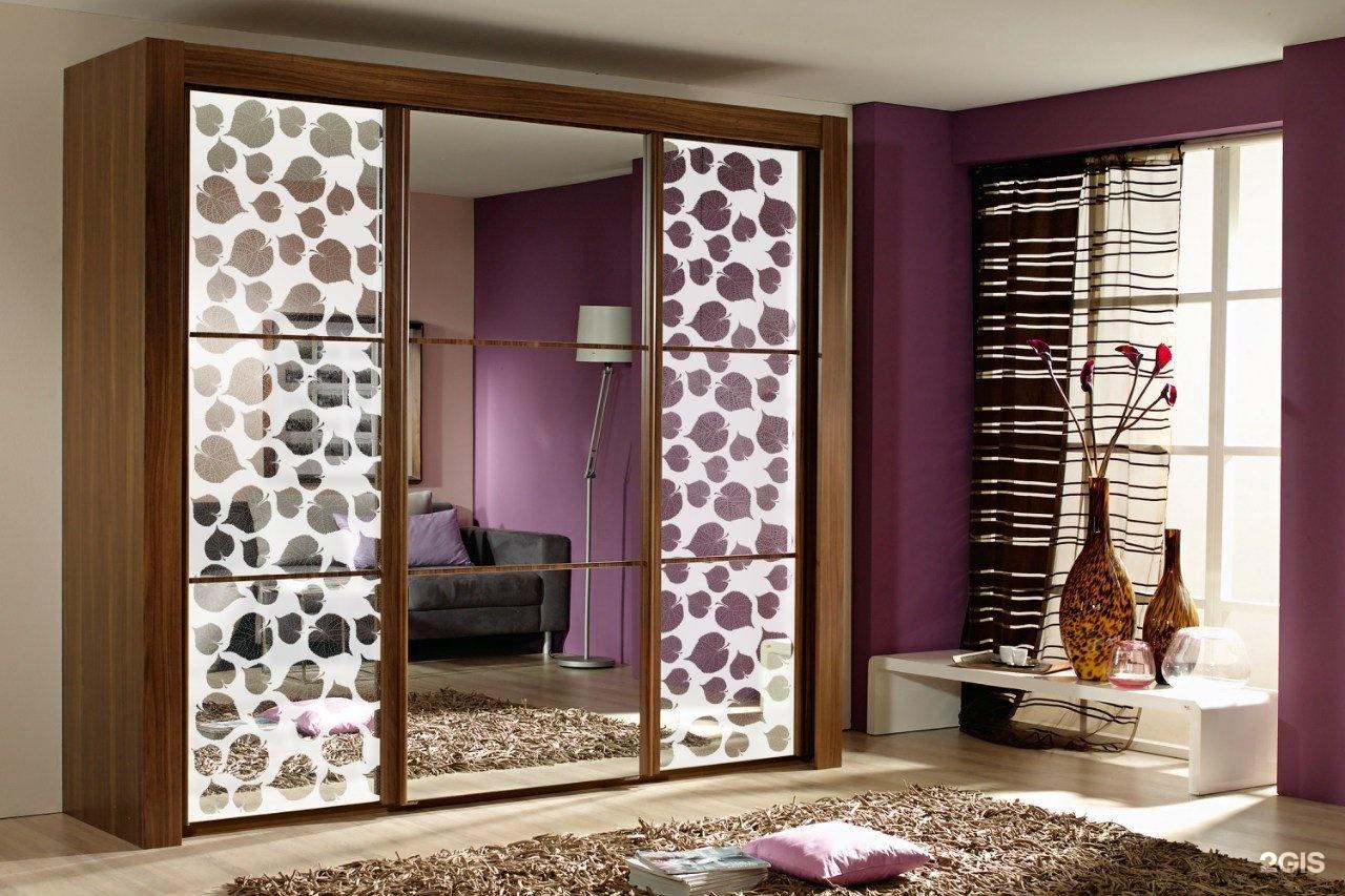 Зеркало узорчатое для шкаф купе , фото. цена - 3100.00 руб.,.