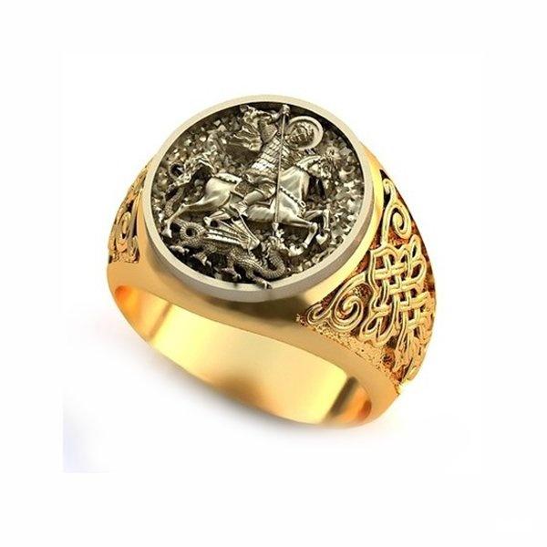 перстень мужской золотой с георгием победоносцем вкладов