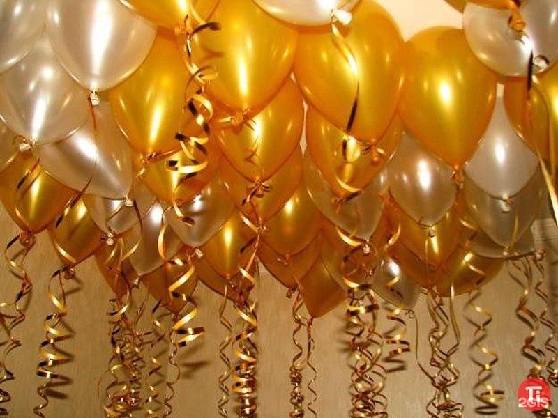 Золотые картинки с днем рождения