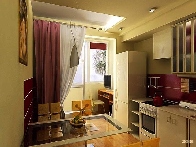 Кухня 8м2 с балконом дизайн..